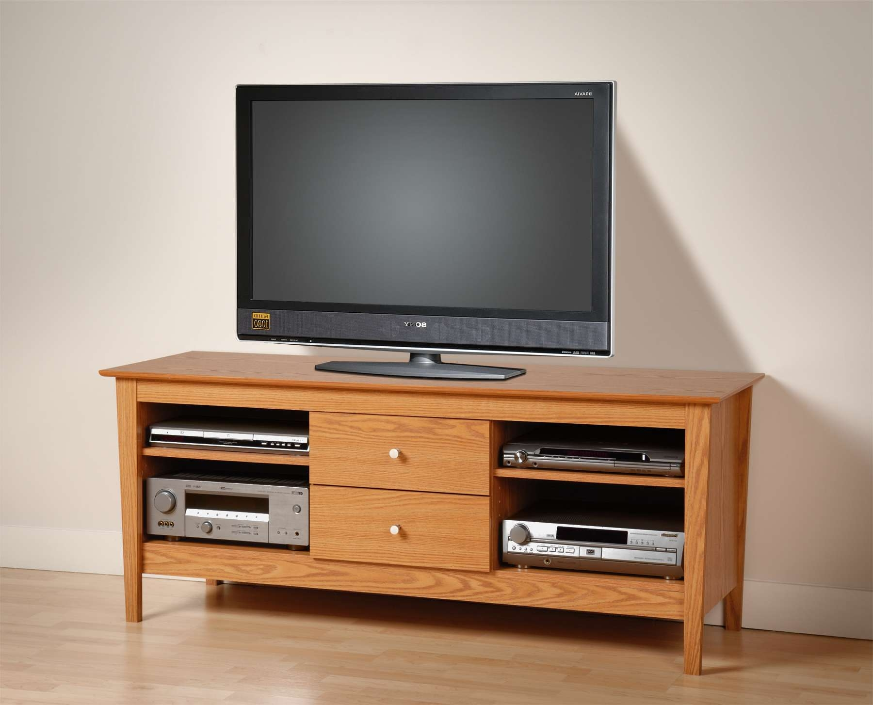 Ideal Oak Tv Stand For Flat Screen – Home Decorreisa Intended For Oak Tv Cabinets For Flat Screens (View 5 of 20)