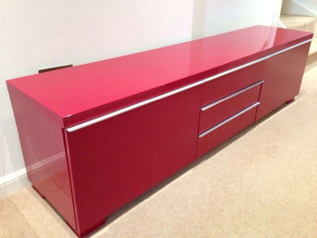Ikea Besta Burs High Gloss Red Tv Unit | In Baillieston, Glasgow Regarding Red Gloss Tv Cabinets (View 4 of 20)