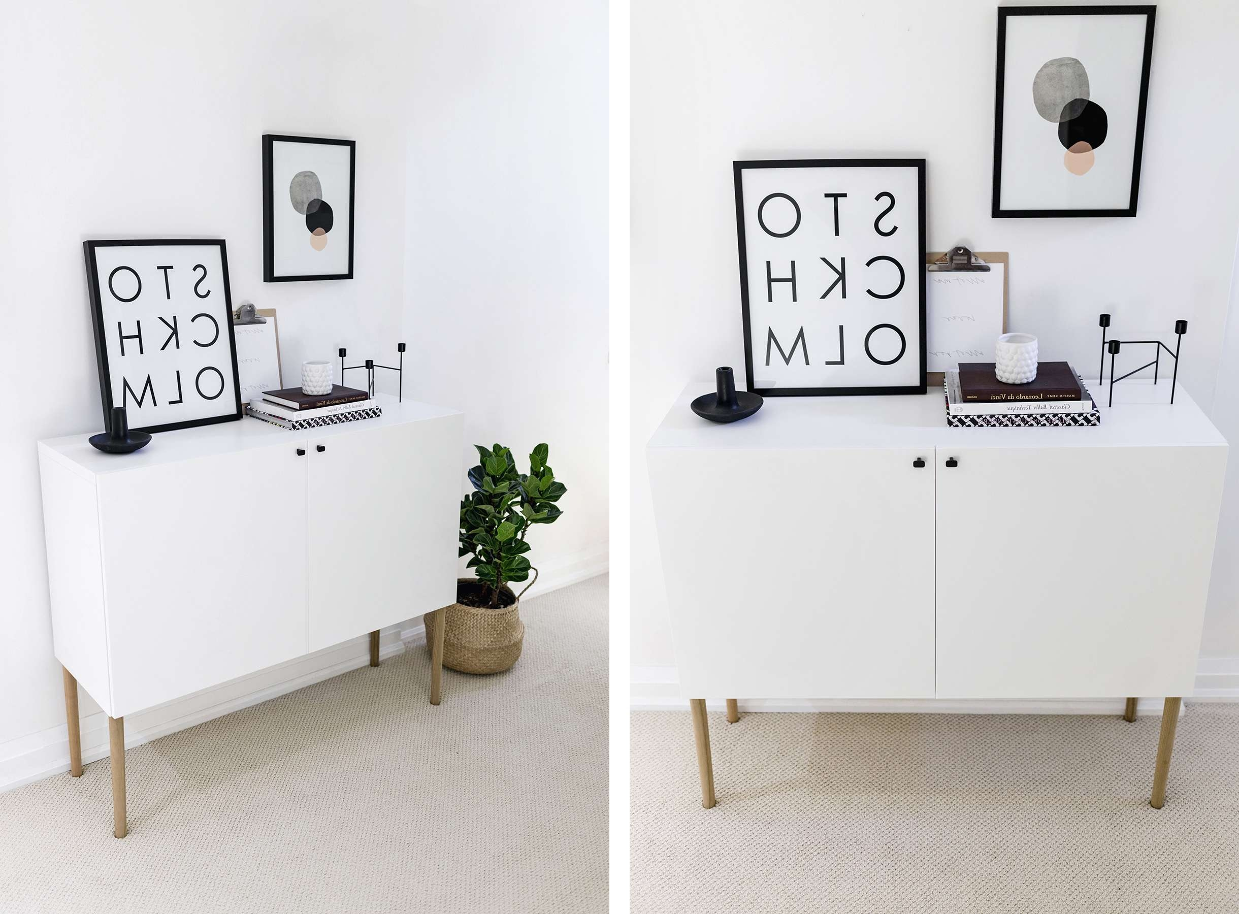 Ikea Besta Hack: Scandinavian Sideboard Cabinet | Happy Grey Lucky For Ikea Besta Sideboards (Gallery 2 of 20)
