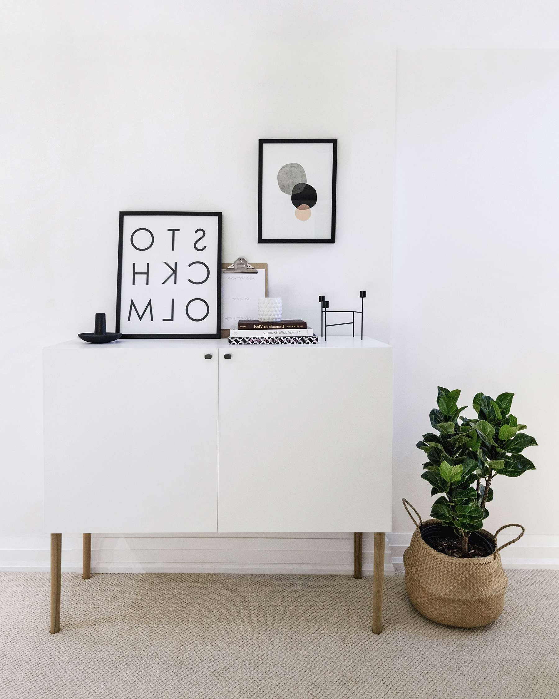 Ikea Besta Hack: Scandinavian Sideboard Cabinet | Happy Grey Lucky Regarding Ikea Besta Sideboards (View 11 of 20)