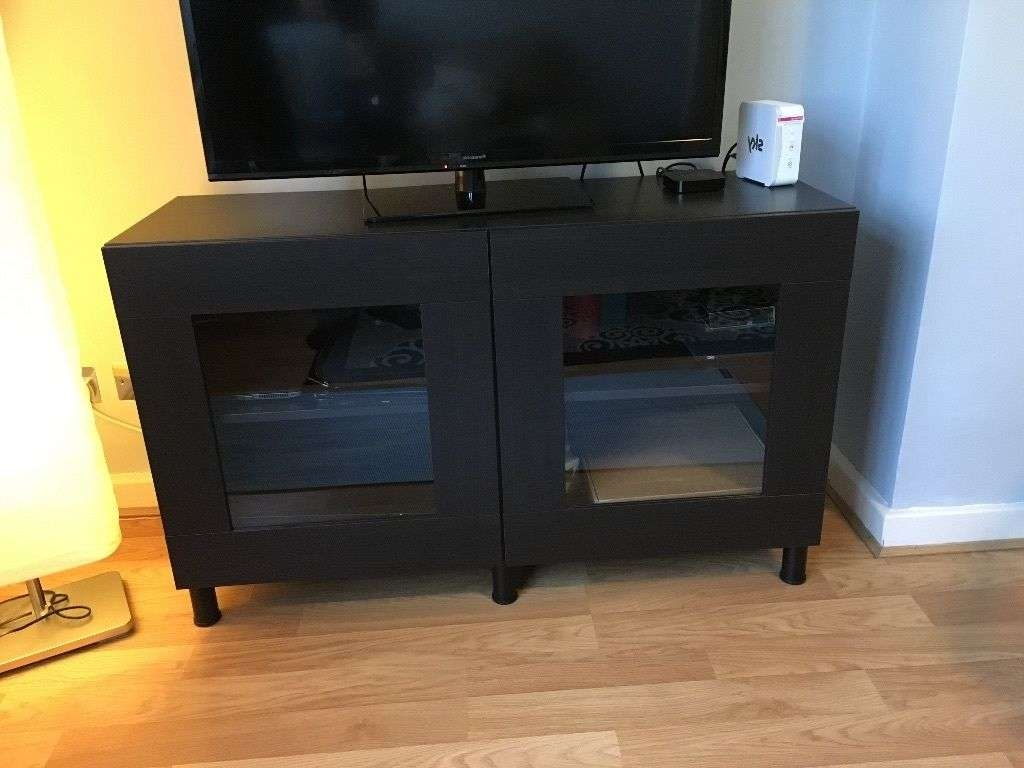 Ikea Besta Tv Stand With Glass Doors, Table, Entertainment Center With Tv Cabinets With Glass Doors (View 2 of 20)