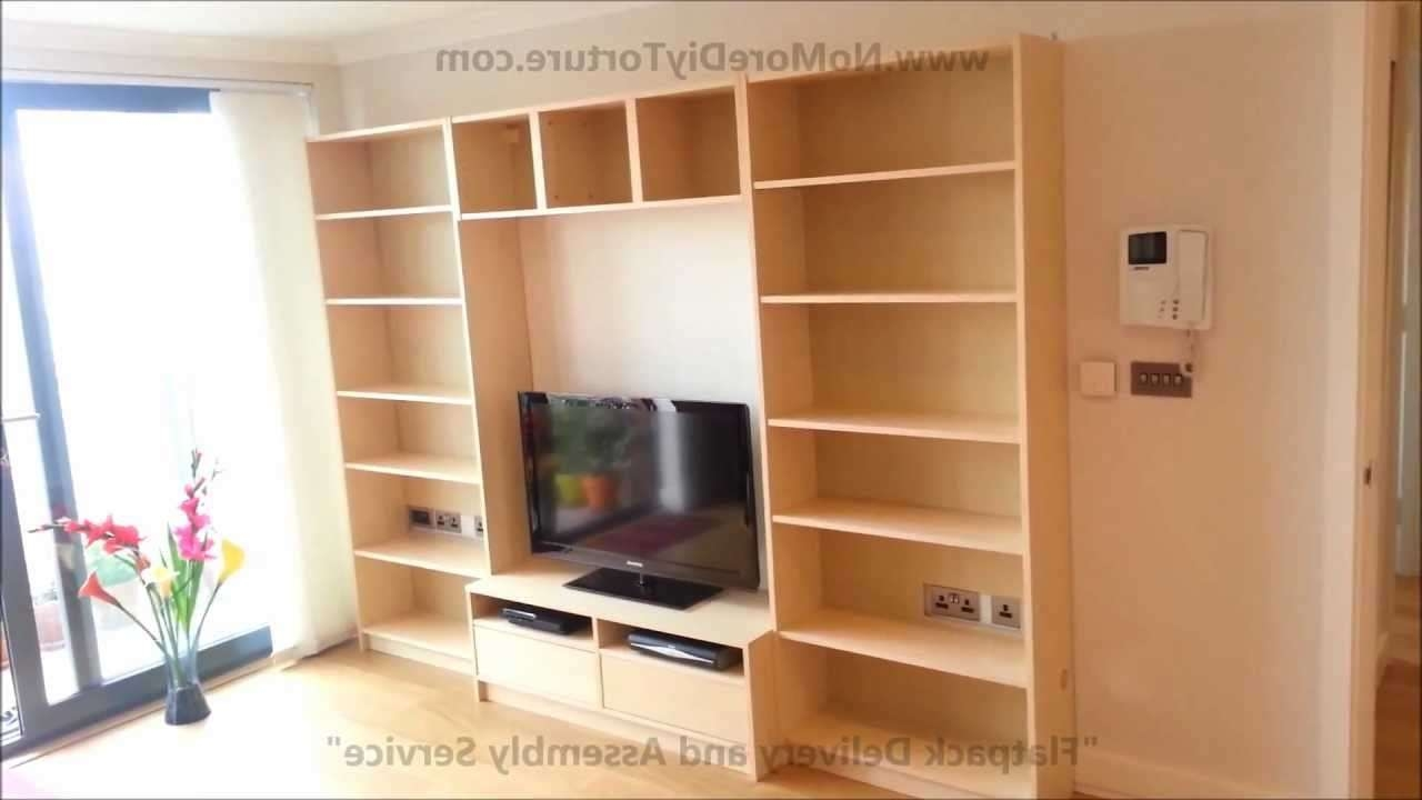 Ikea Billy Benno Tv Stand With Storage – Youtube Throughout Tv Cabinets And Bookcase (Gallery 15 of 20)