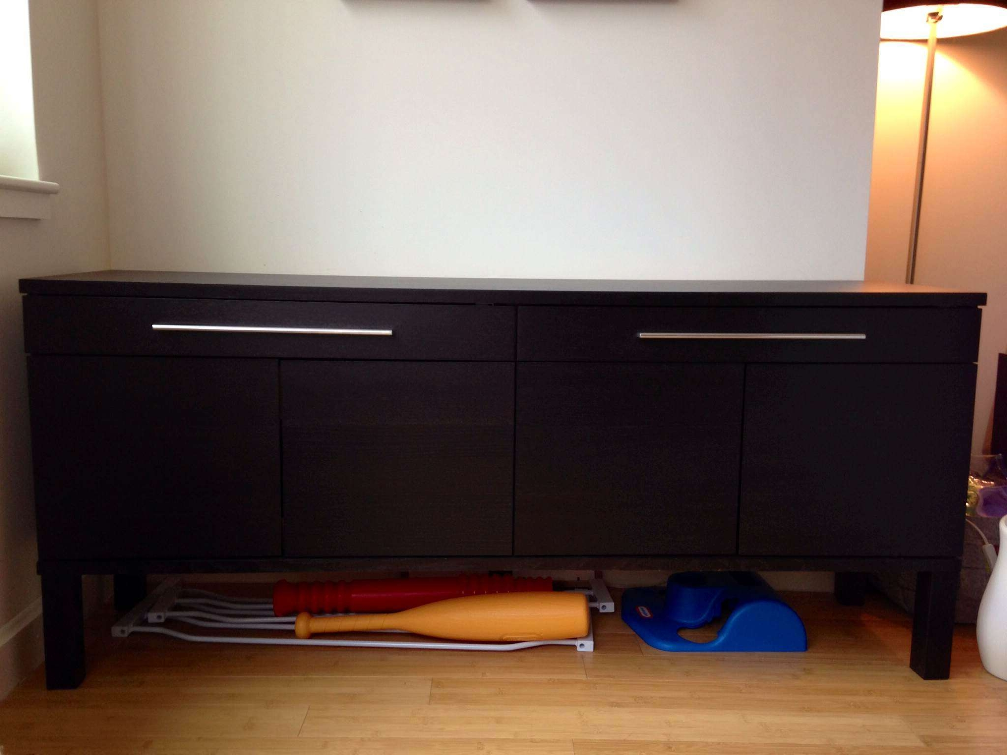 Ikea Bjursta Sideboard Dining Storage, Dark Brown – $100 | Too Big With Bjursta Sideboards (View 2 of 20)