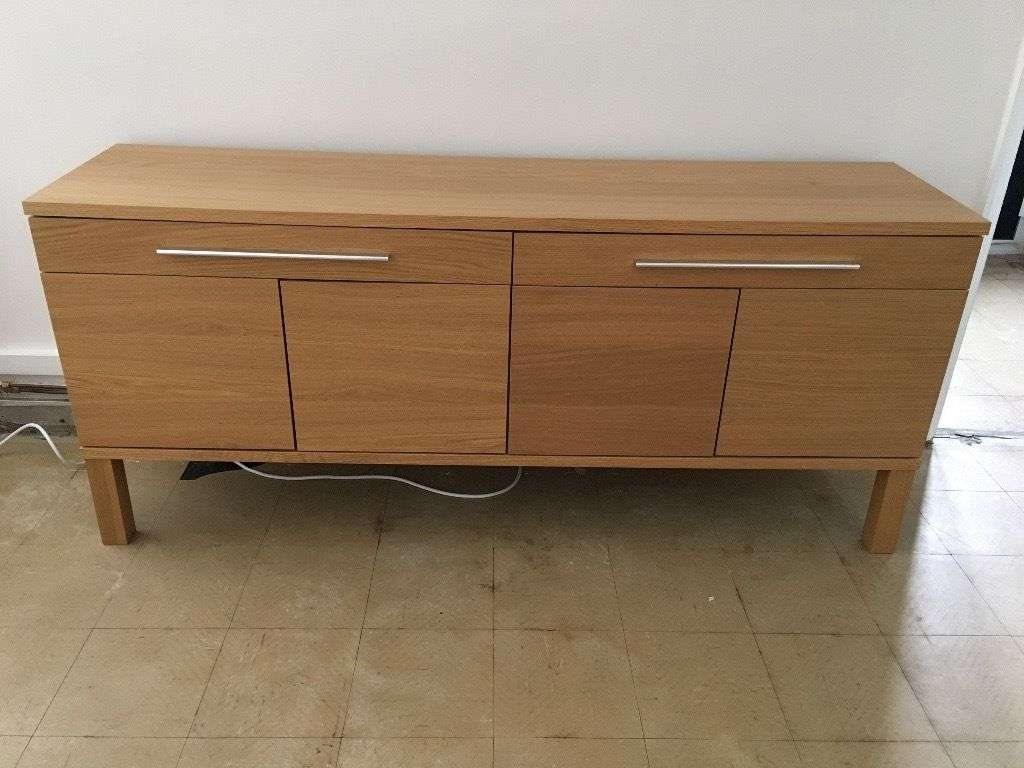 Ikea Bjursta Sideboard, Oak Veneer | In Chester, Cheshire | Gumtree In Ikea Bjursta Sideboards (Gallery 1 of 20)