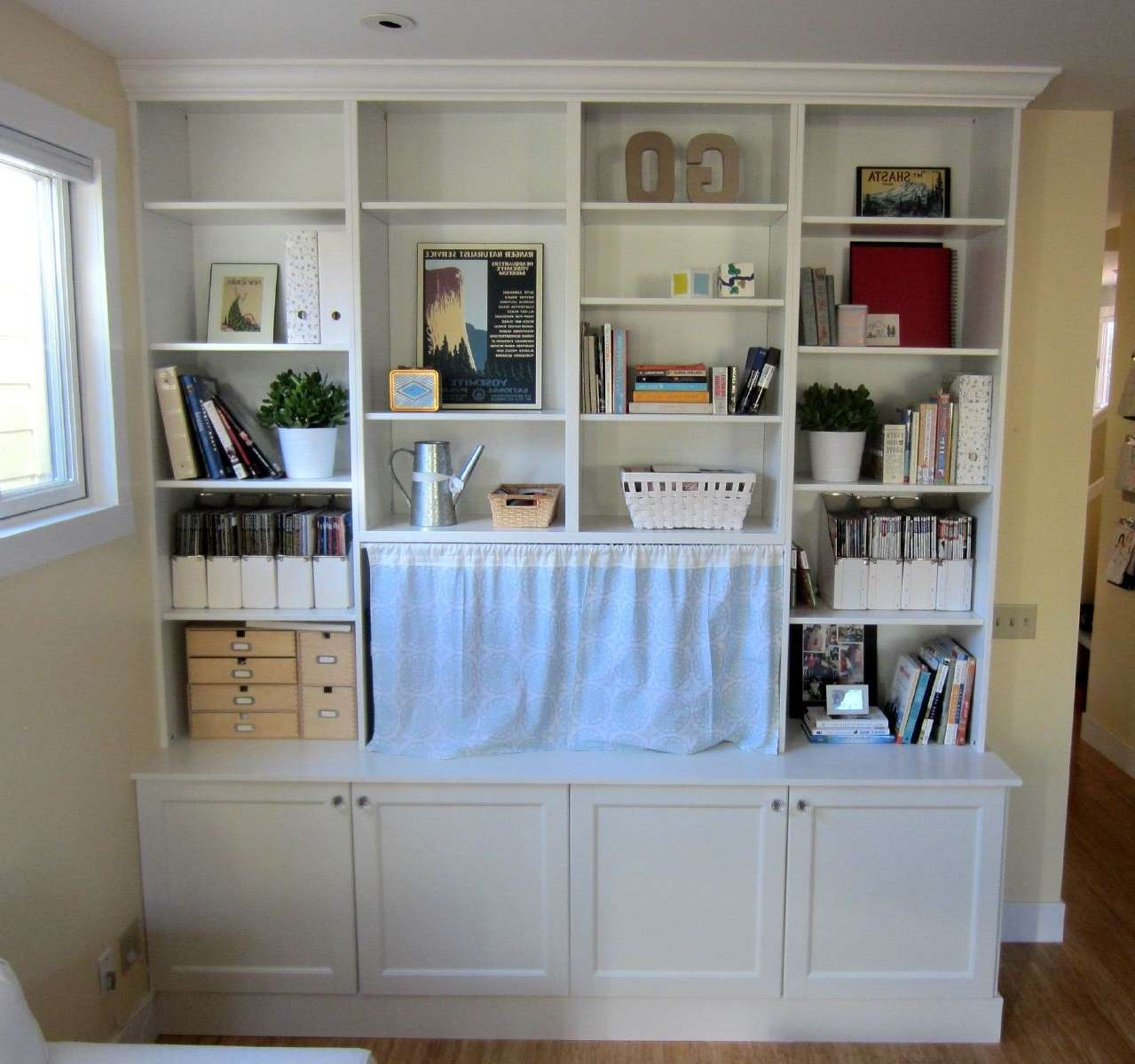 Ikea Hack 2: Besta Built In Family Room Tv Bookshelf – Shirley Pertaining To Ikea Built In Tv Cabinets (Gallery 10 of 20)