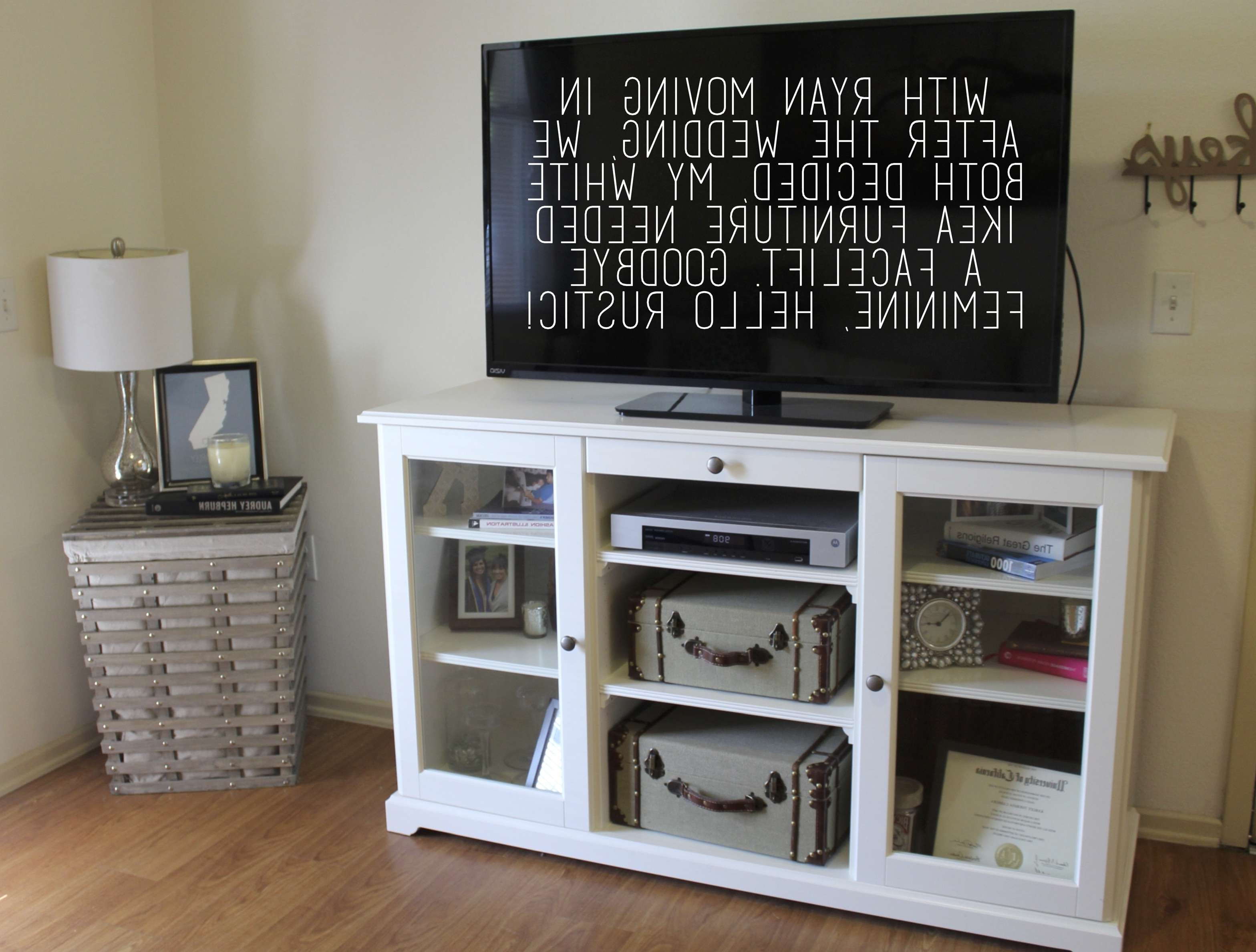 Ikea Hack: From Crisp White To Rustic Chic | Craft It Out With Regard To Liatorp Sideboards (Gallery 17 of 20)
