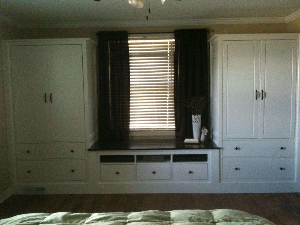 Ikea Hackers Built In With Bench Hemnes Tv Stand And Two Wardrobe For Ikea  Built In