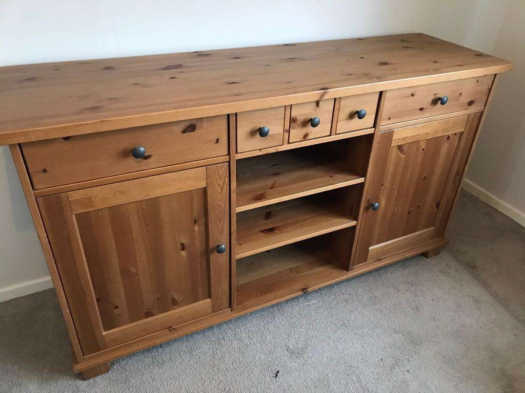 Ikea Hemnes Sideboard Draws Cupboard Pine Solid Wood | In Burbage Regarding Hemnes Sideboards (View 17 of 20)