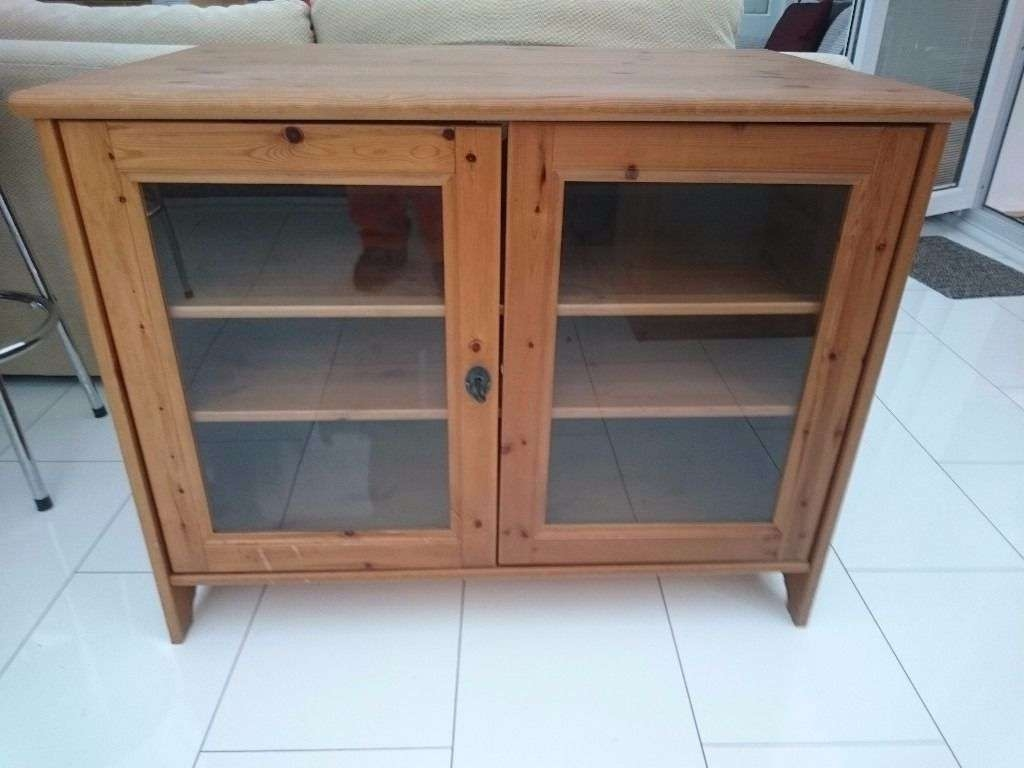 Ikea Leksvik Solid Antique Pine Tv Cabinet With Lockable Glass Regarding Solid Pine Tv Cabinets (View 8 of 20)