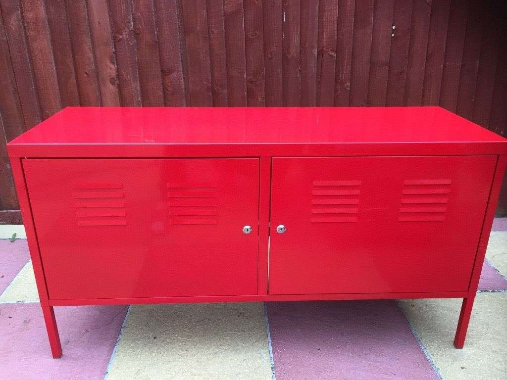 Ikea Ps Tv Cabinet Stand Red Good Condition Sideboard Bench Office Regarding Ikea Red Sideboards (View 9 of 20)