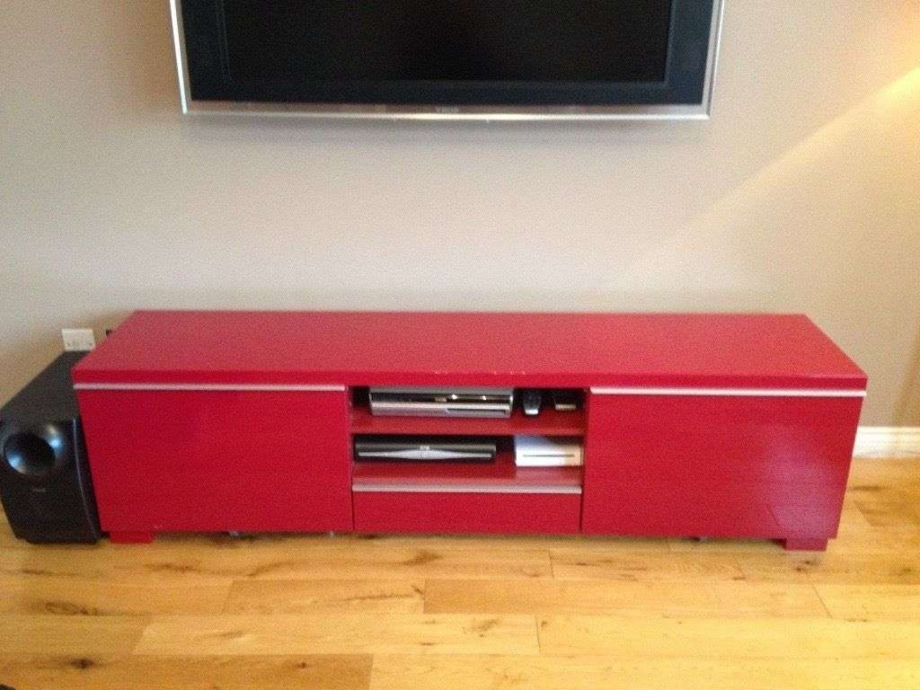 Ikea Red Gloss Tv Unit | In Cambuslang, Glasgow | Gumtree For Red Gloss Tv Cabinets (Gallery 7 of 20)