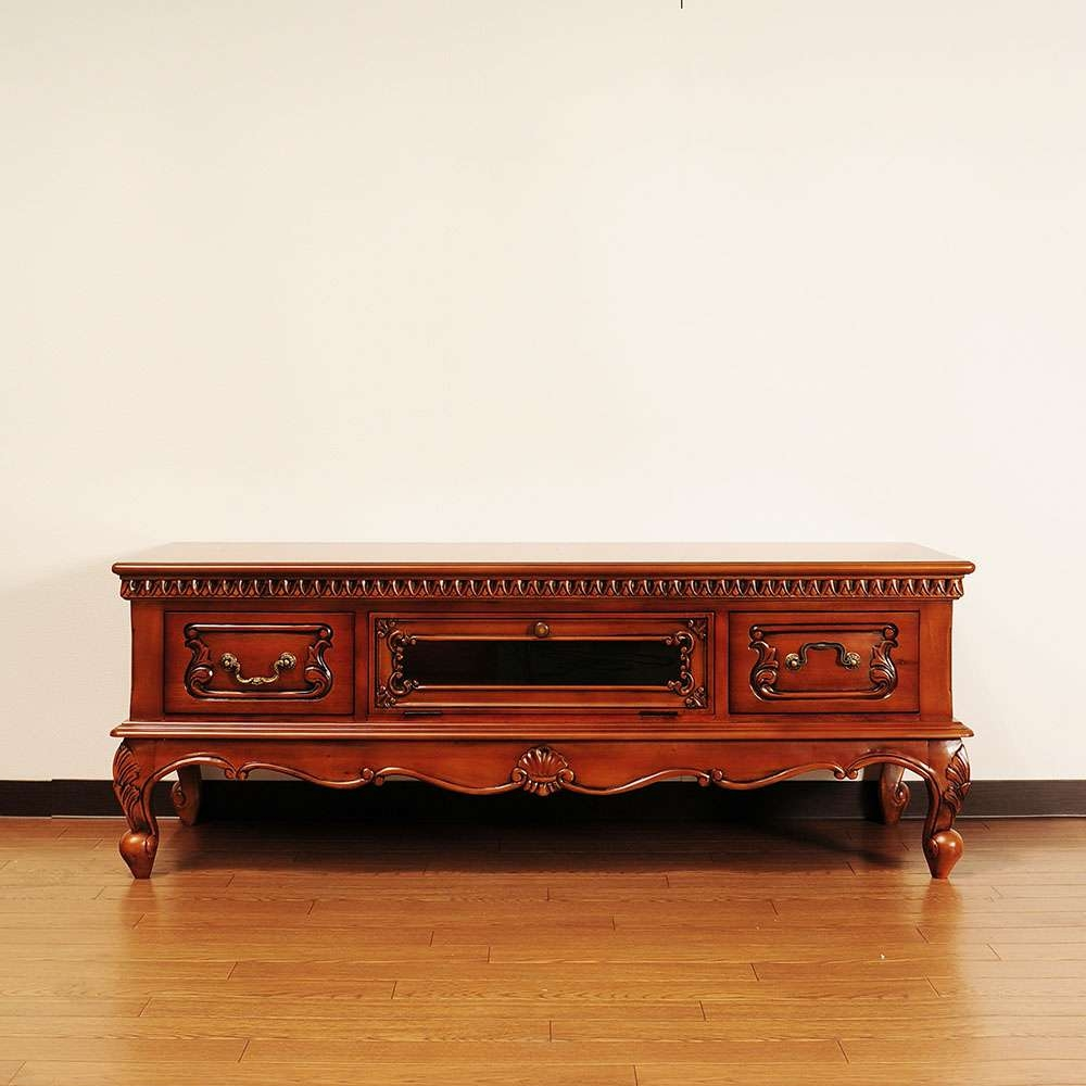 Import Interior Aper Son | Rakuten Global Market: Solid Material With Regard To Mahogany Tv Cabinets (View 9 of 20)