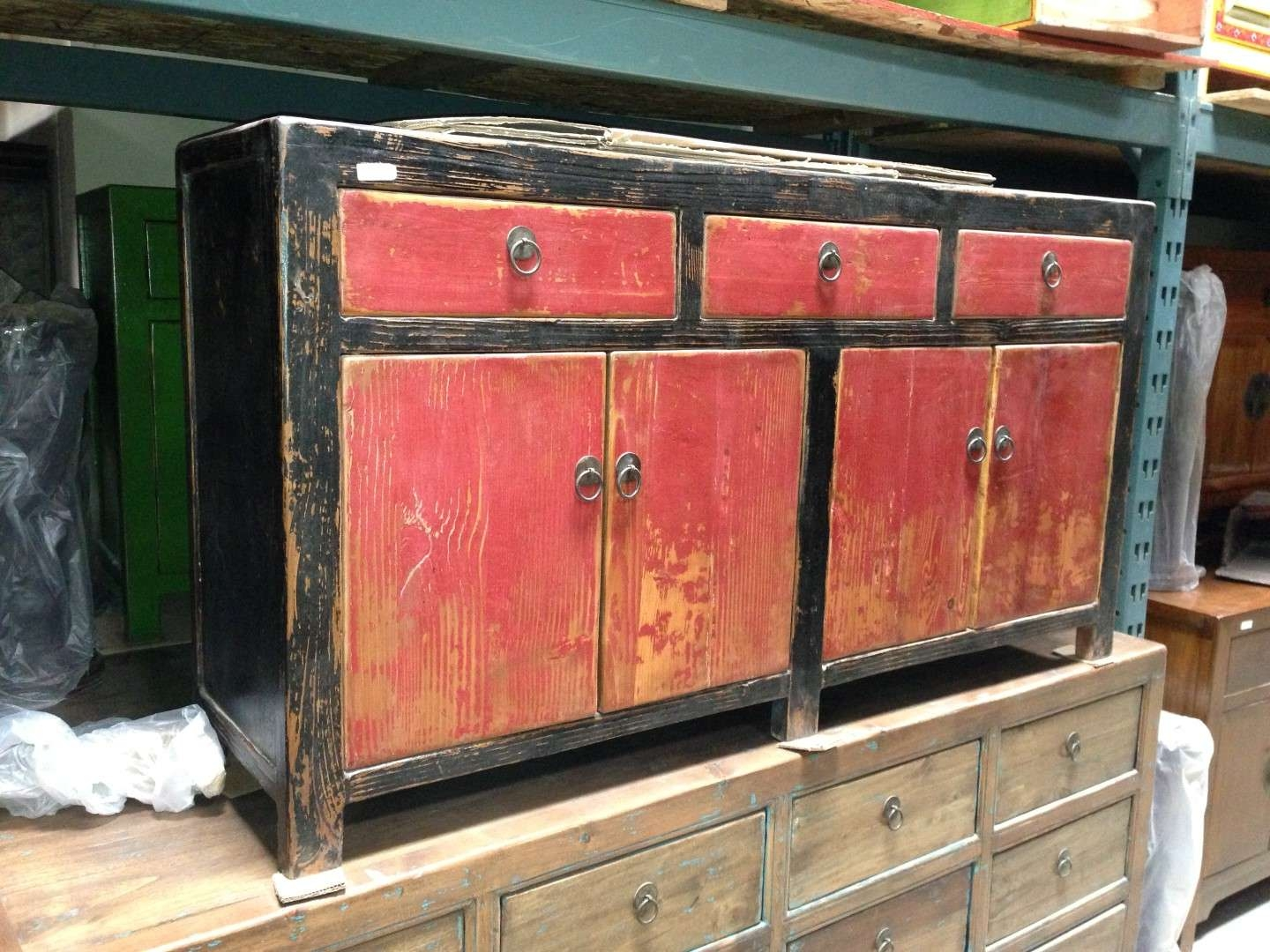 Imported Rustic Sideboards From India, China, Indonesia And Mexico Intended For Red Sideboards (View 8 of 20)