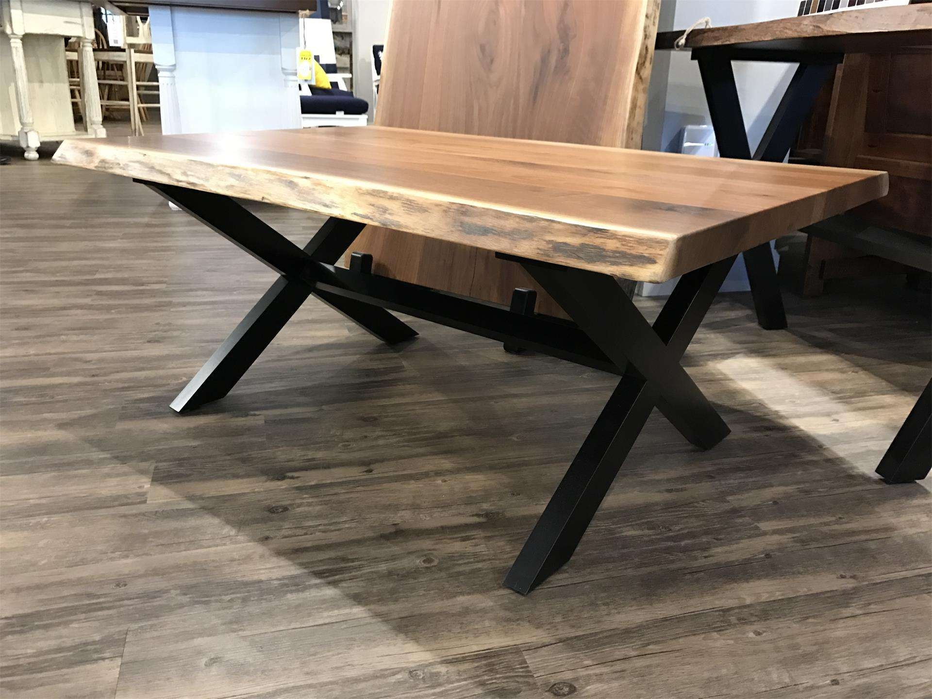 In Stock Live Edge Coffee Table From Dutchcrafters Amish Furniture Intended For Favorite Live Edge Coffee Tables (Gallery 1 of 20)