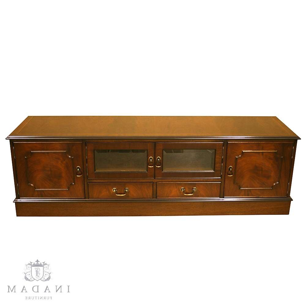 Inadam Furniture – 6' Tv Cabinet – In Mahogany/yew/oak/walnut With Mahogany Tv Cabinets (Gallery 11 of 20)