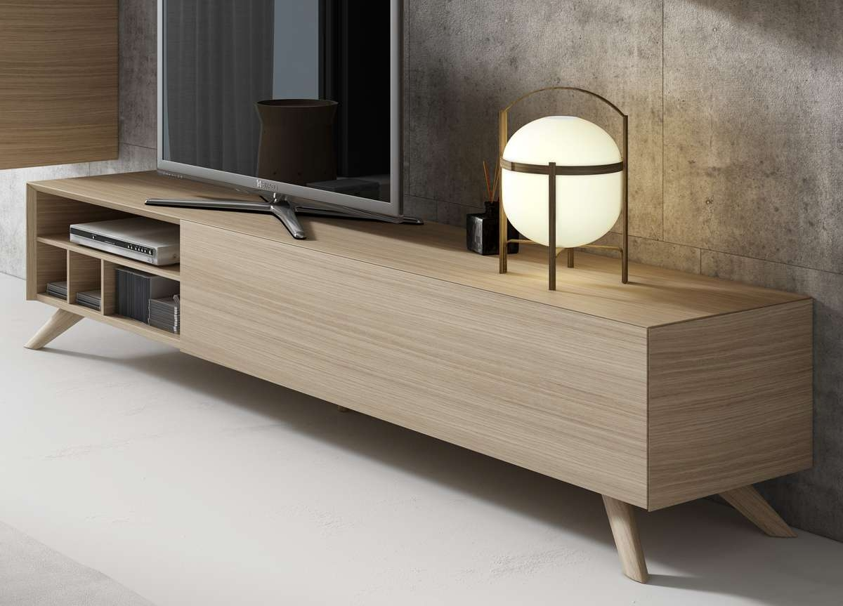 Inclinar Tv Unit | Contemporary Tv Units | Modern Furniture Regarding Contemporary Oak Tv Cabinets (View 20 of 20)