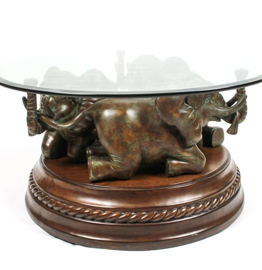 Featured Photo of Elephant Glass Top Coffee Tables