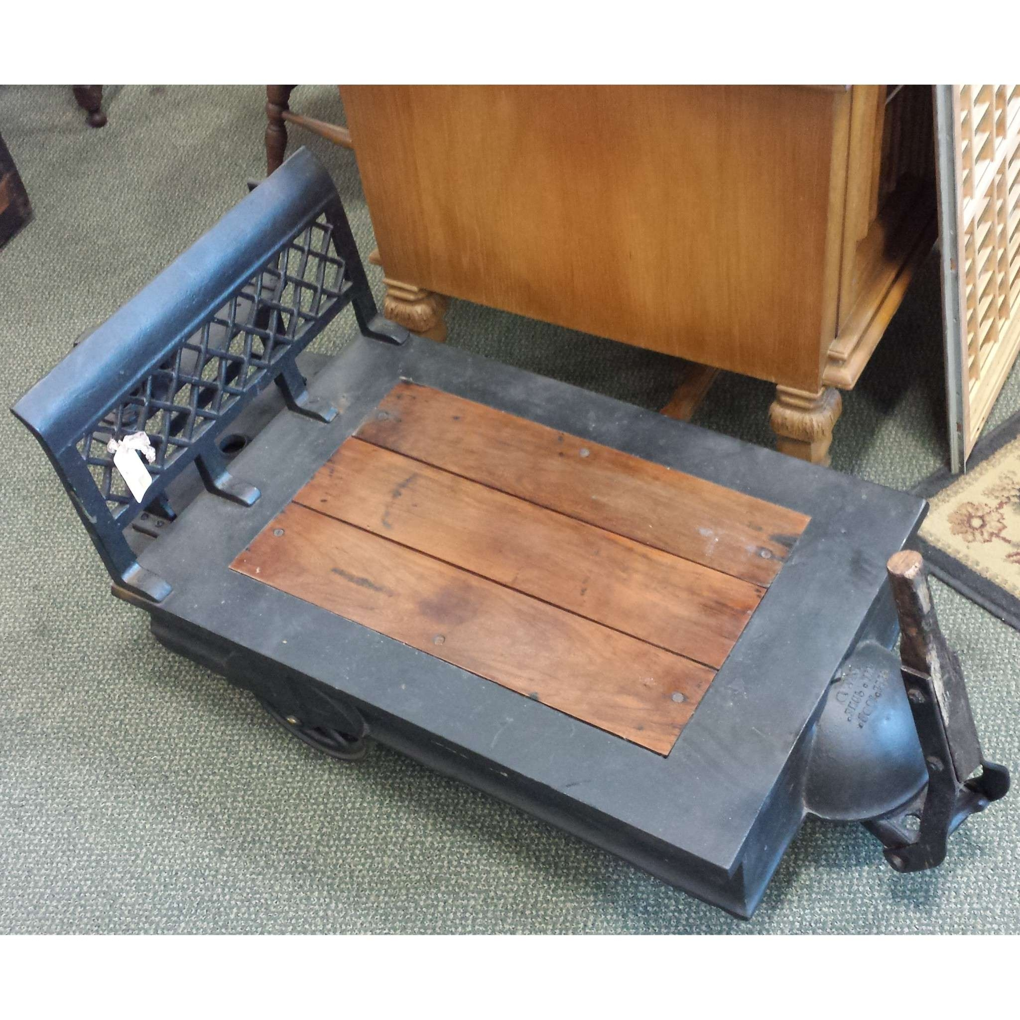 Industrial Coffee Table – Old Strathcona Antique Mall Pertaining To Preferred Industrial Coffee Tables (View 12 of 20)