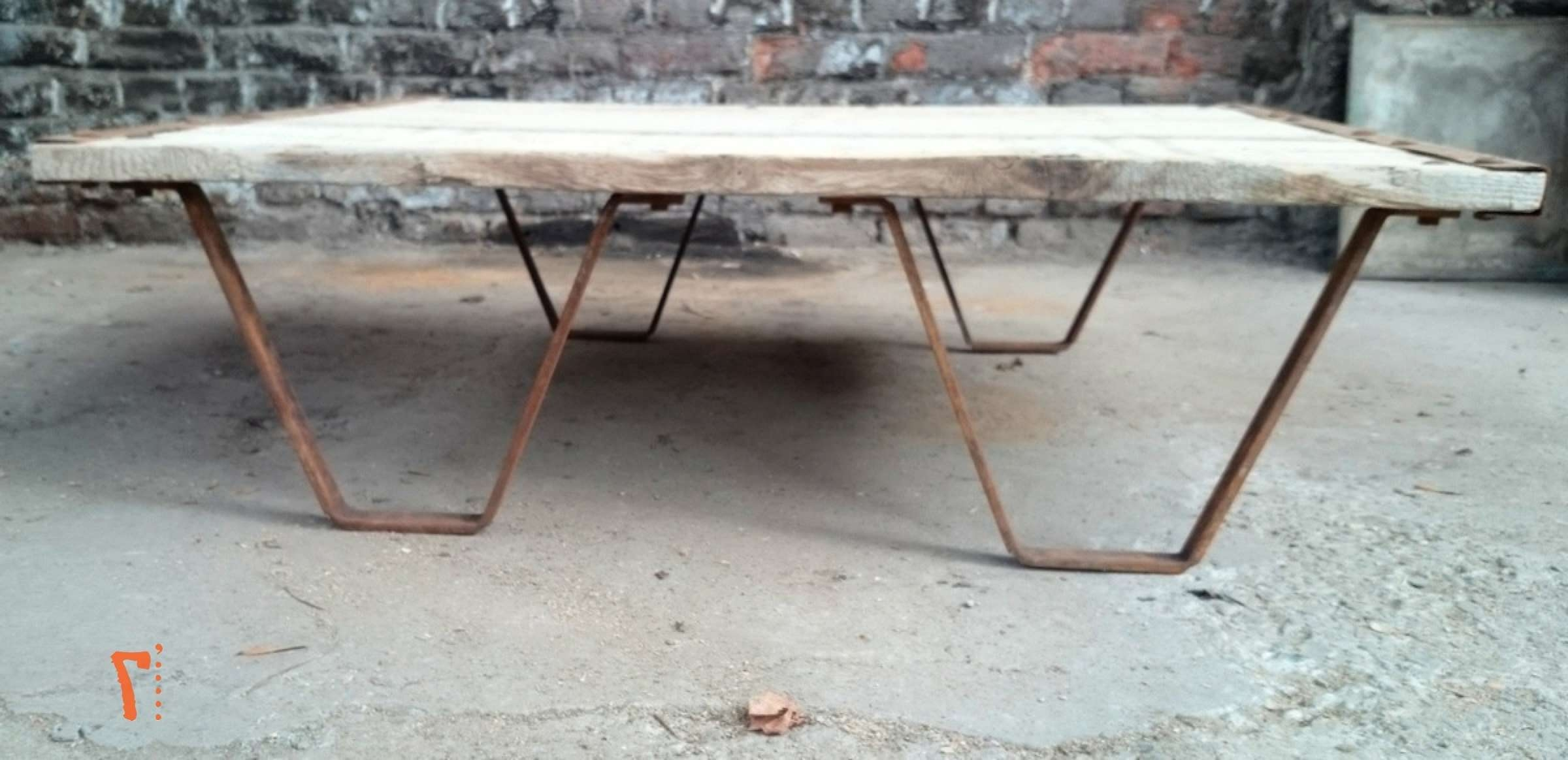 Industrial Furniture – Solid Wood Garden Coffee Table (View 11 of 20)