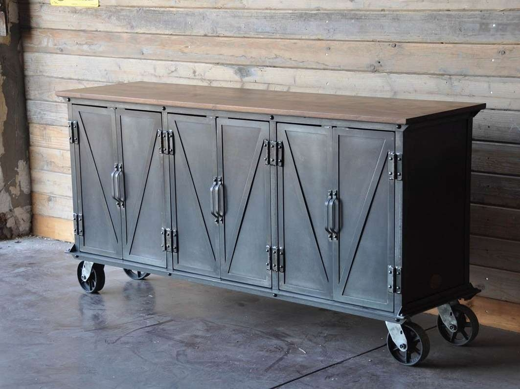 Industrial Sideboard On Wheel : Rocket Uncle – Best Industrial With Metal Sideboards (View 12 of 20)