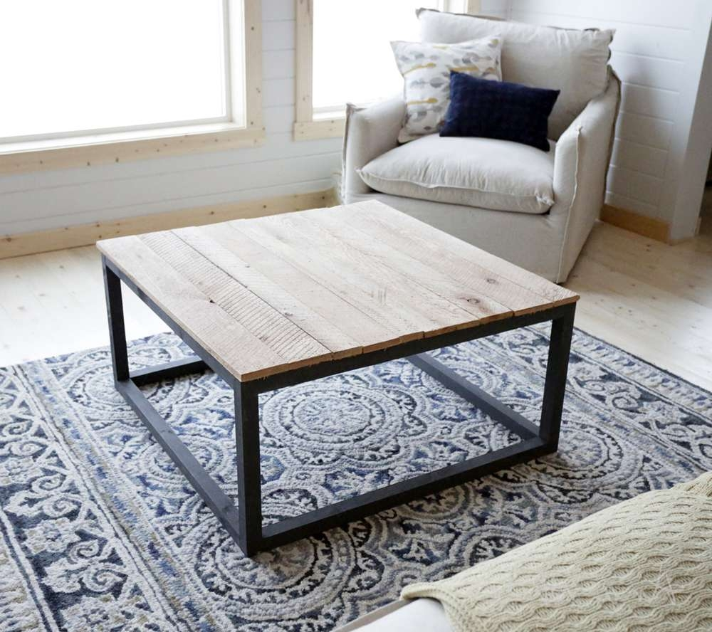 Industrial Style Coffee Table As Seen On Diy Network Regarding Recent Wood Modern Coffee Tables (View 8 of 20)