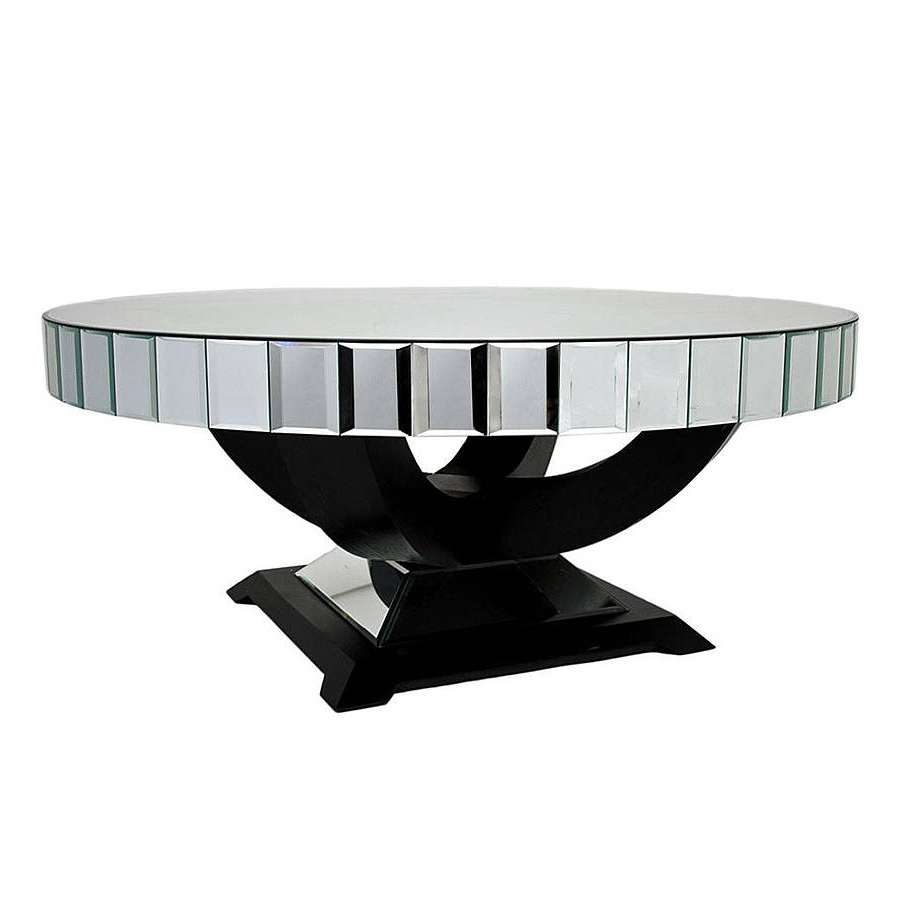 Infinity Oval Mirrored Coffee Table With Wooden Base Painted With Within Well Known Oval Mirrored Coffee Tables (Gallery 7 of 20)
