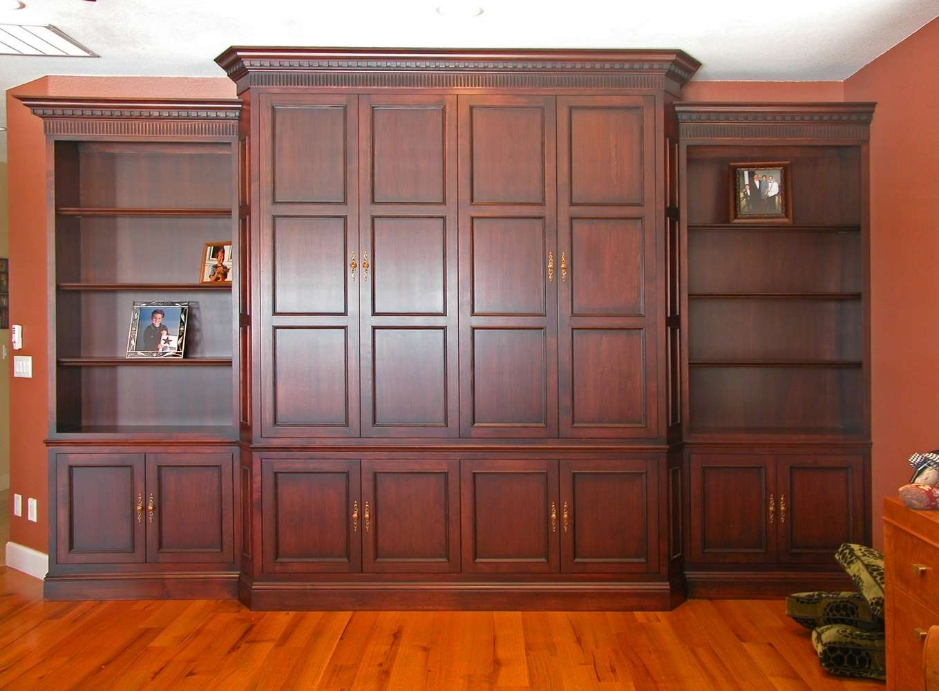 Inset Shelves | Unique Design Cabinet Co Throughout Mahogany Tv Cabinets (View 12 of 20)
