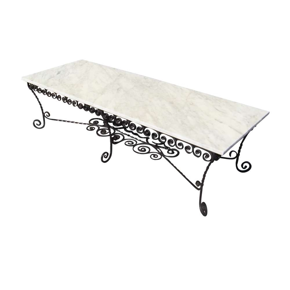 Inspiration Design Of Wrought Iron Coffee Table Stylish Finishing With Regard To 2017 Marble And Metal Coffee Tables (View 6 of 20)