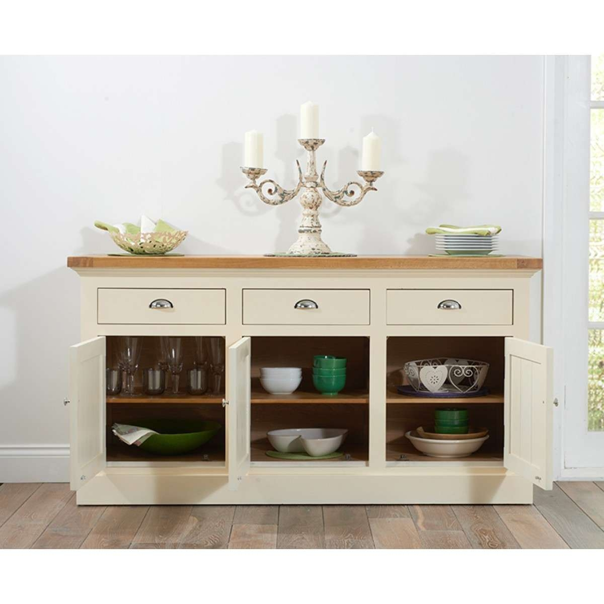 Inspiring Example For Cream Oak Sideboard – Home Design Pertaining To Cream And Oak Sideboards (View 12 of 20)