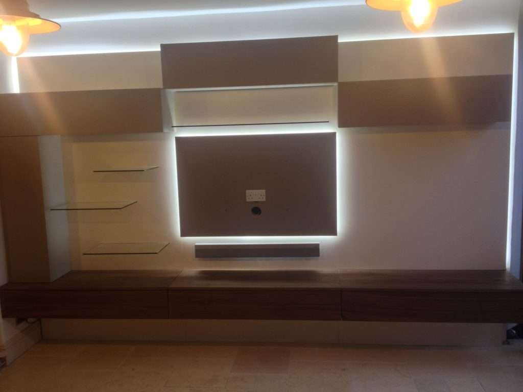 Instyle's White Led Tape Used To Illuminate A Tv Cabinet With Bespoke Tv Cabinets (View 15 of 20)