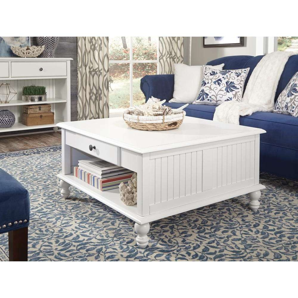 International Concepts Cottage Beach White Square Coffee Table Intended For Current White Cottage Style Coffee Tables (View 11 of 20)