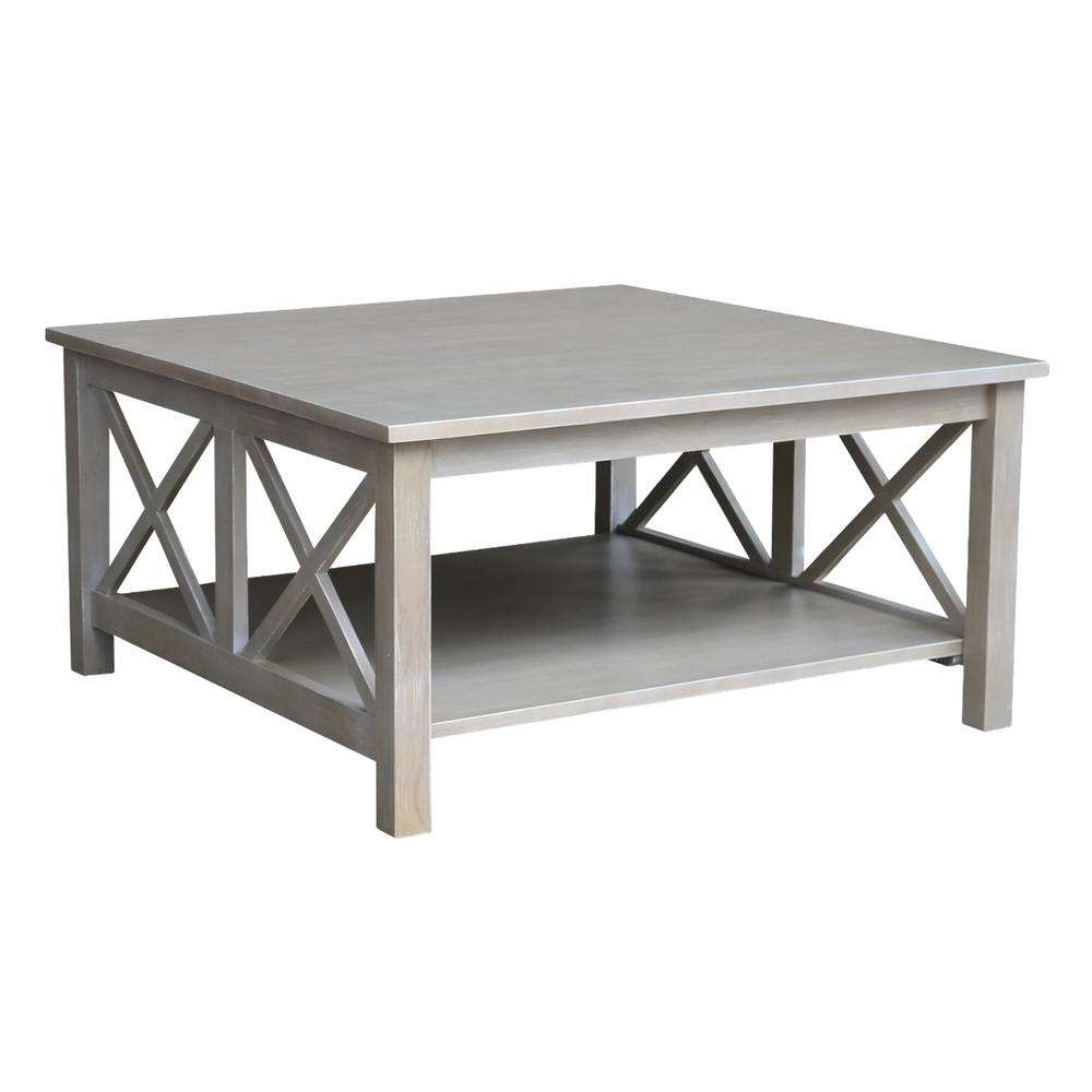 International Concepts Hampton Weathered Grey Square Coffee Table Inside Latest Grey Coffee Tables (View 12 of 20)