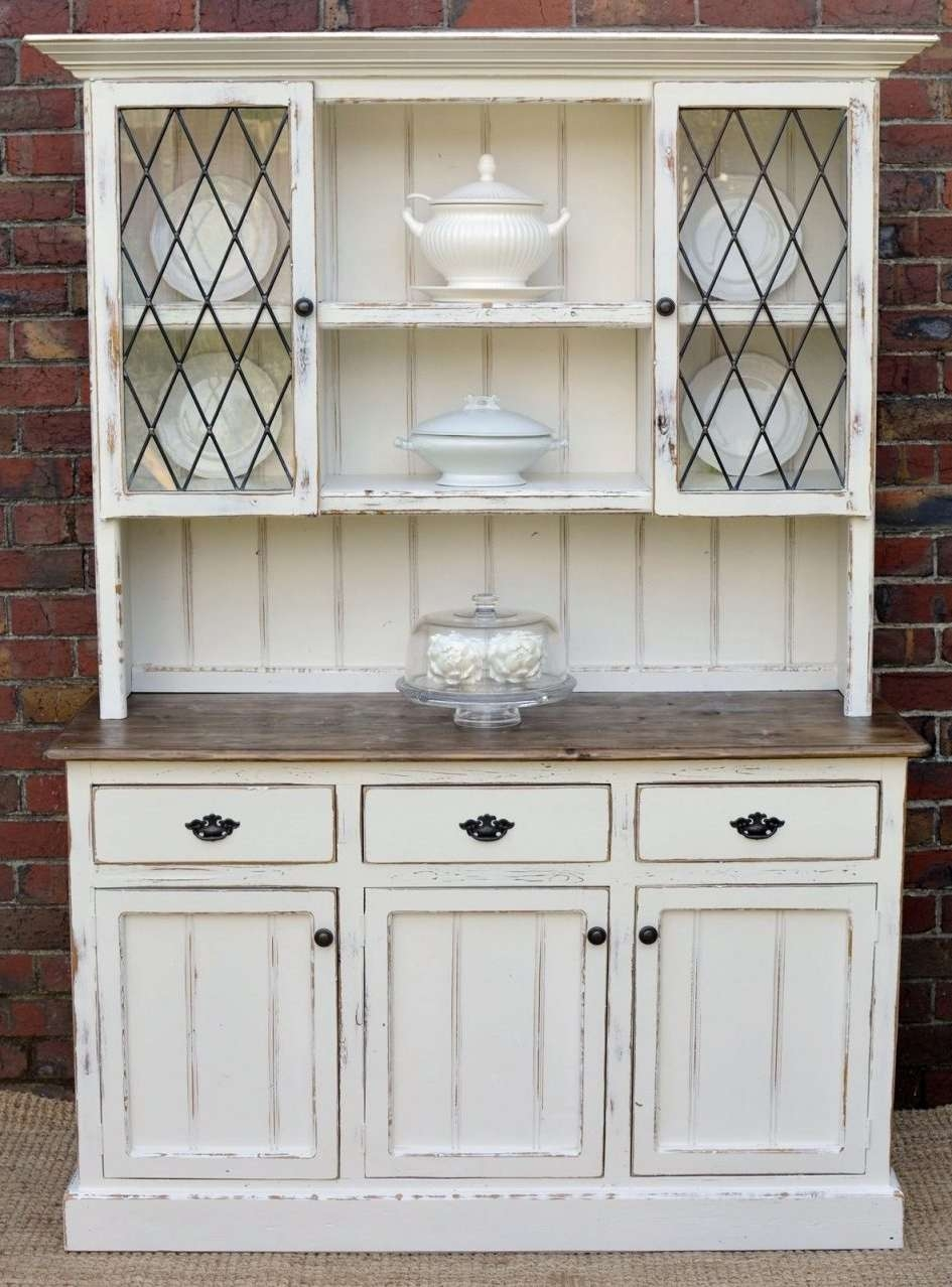 Intricate White Kitchen Buffet Country Farmhouse French Provincial Within Country Sideboards And Hutches (Gallery 1 of 20)