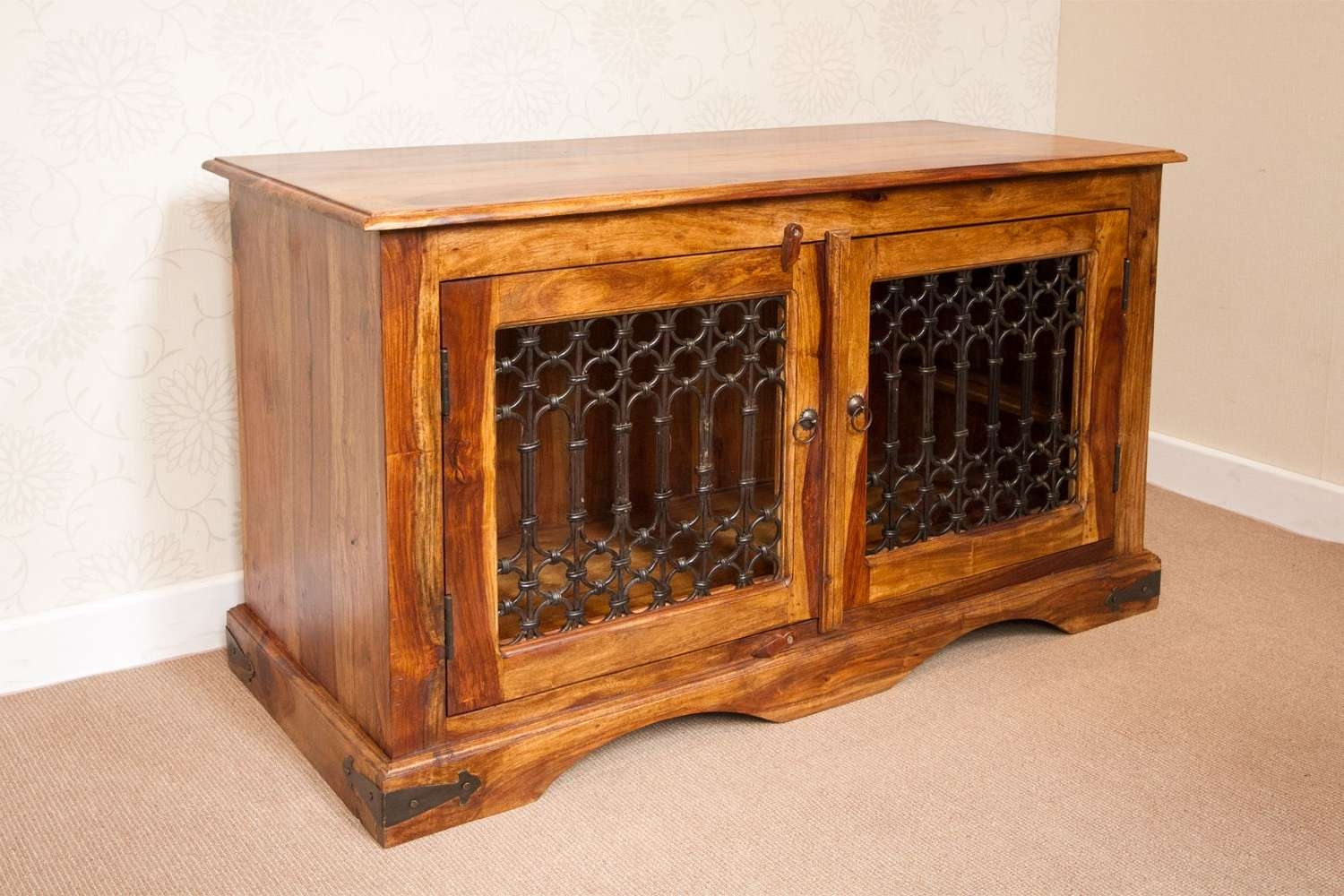It 143 Jali Style Tv Cabinet Low Sideboard Pertaining To Jali Tv Cabinets (View 5 of 20)