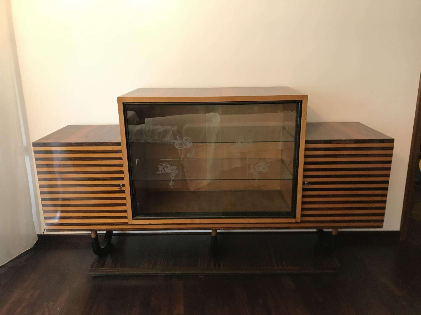 Italian Art Deco Sideboard In Walnut Burl, 1920s For Sale At Pamono For Art Deco Sideboards (View 10 of 20)