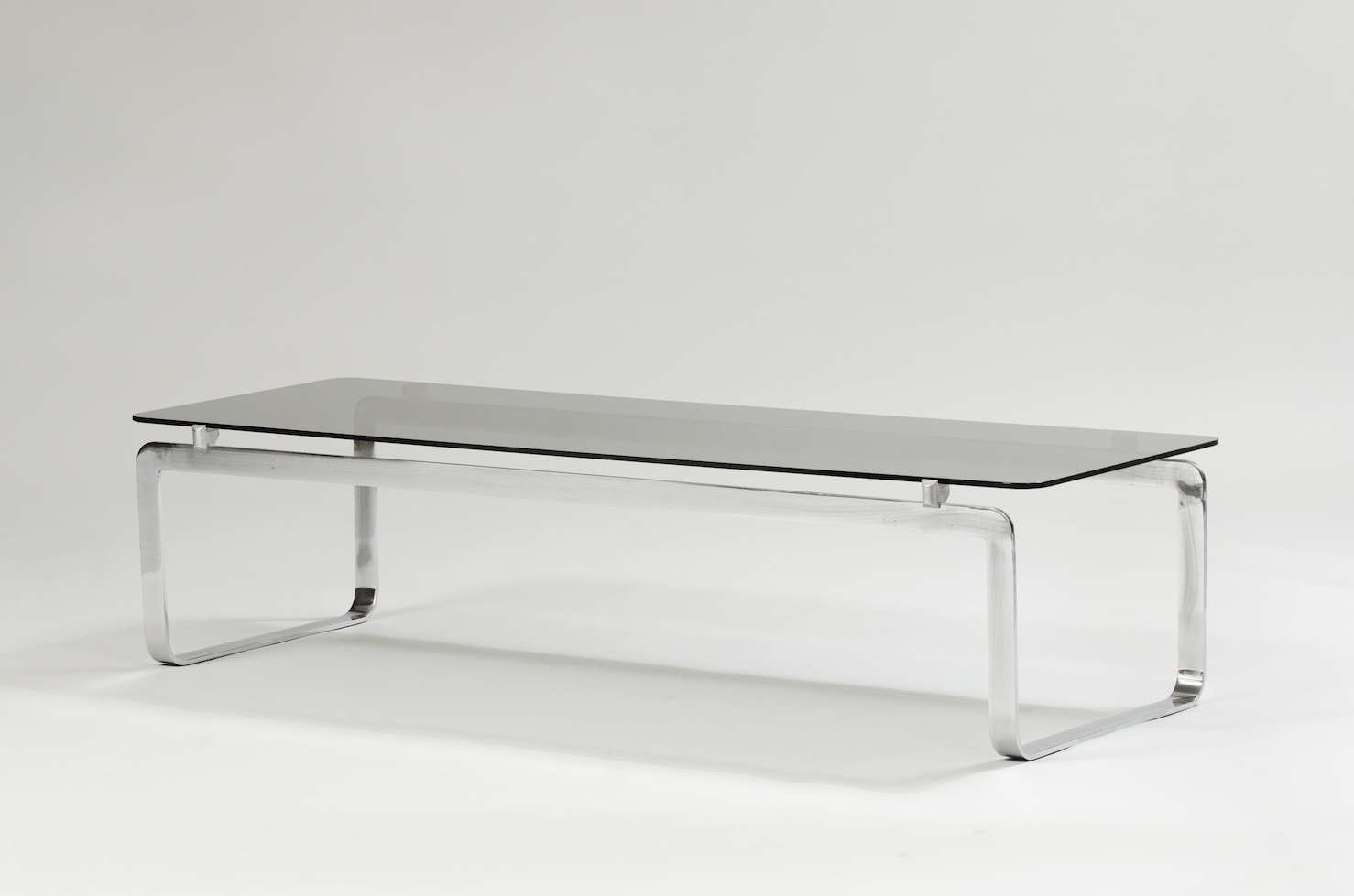 Italian Coffee Table In Chrome And Smoked Glass For Sale At Pamono With Famous Italian Coffee Tables (View 20 of 20)