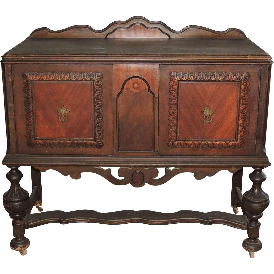 Jacobean Renaissance Revival Walnut Sideboard Buffet Server From Regarding Jacobean Sideboards Buffets (Gallery 1 of 20)