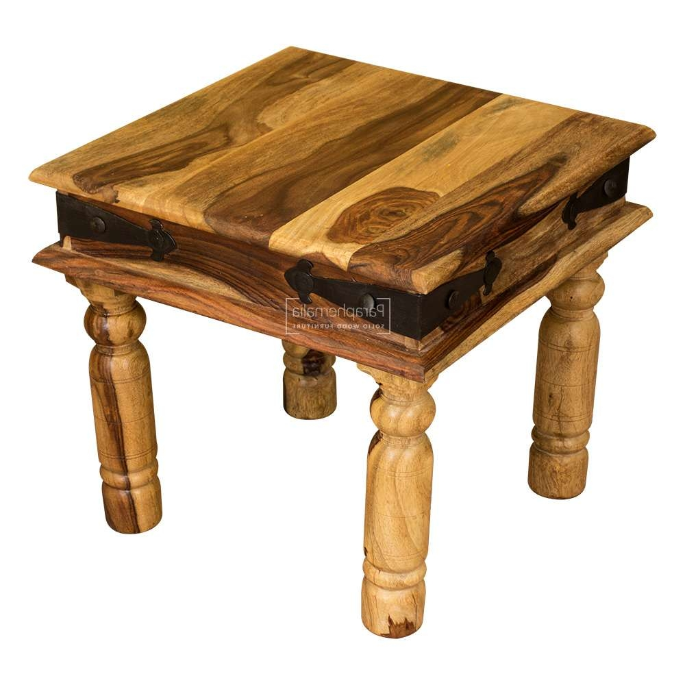 Jali Light Sheesham Coffee Table / Side Table (Thakat Style 45Cm X Throughout Well Known Sheesham Coffee Tables (Gallery 13 of 20)