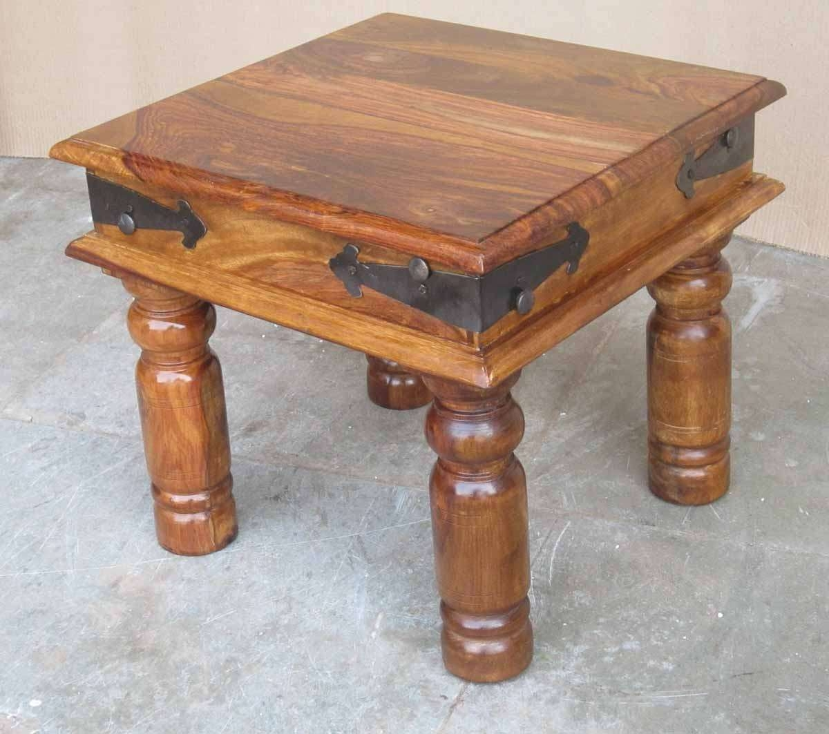 Jali Sheesham Lamp / End Table (View 6 of 20)