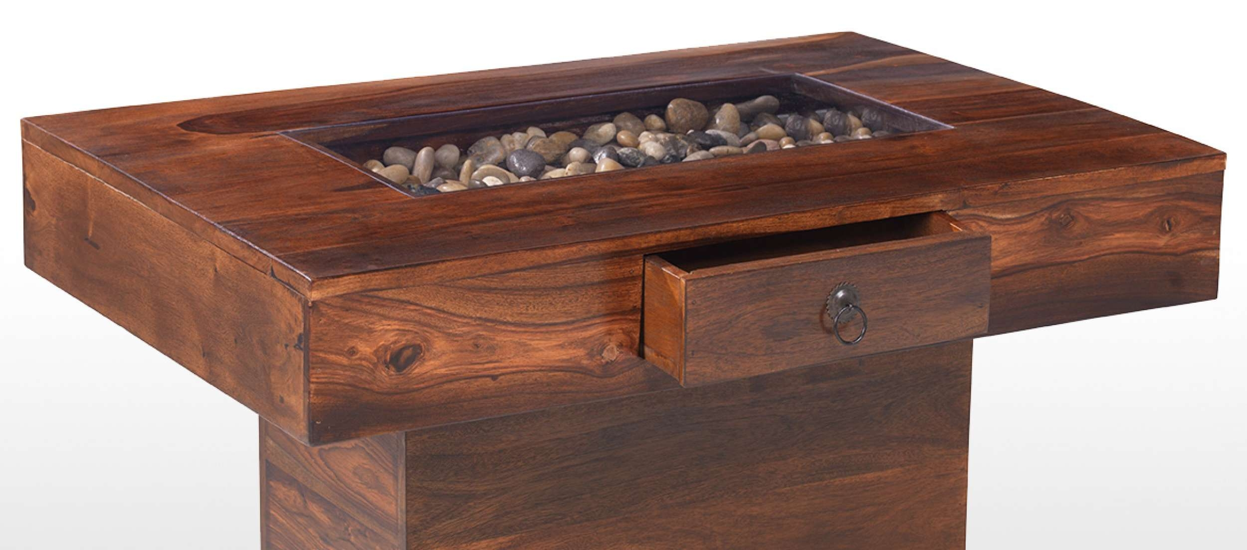 Jali Sheesham Large Pebble Coffee Table (Gallery 2 of 20)