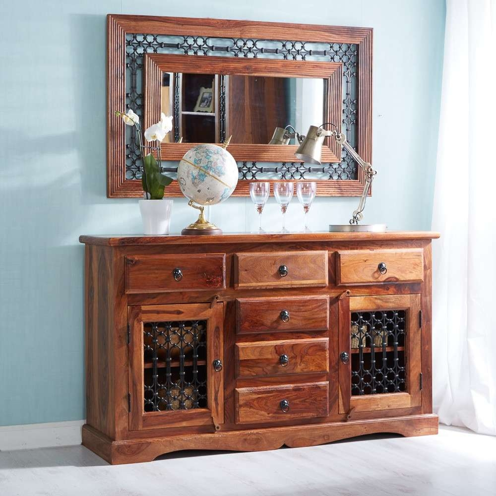 Jali Sheesham Large Sideboard With Regard To Indian Sideboards Furniture (View 13 of 20)