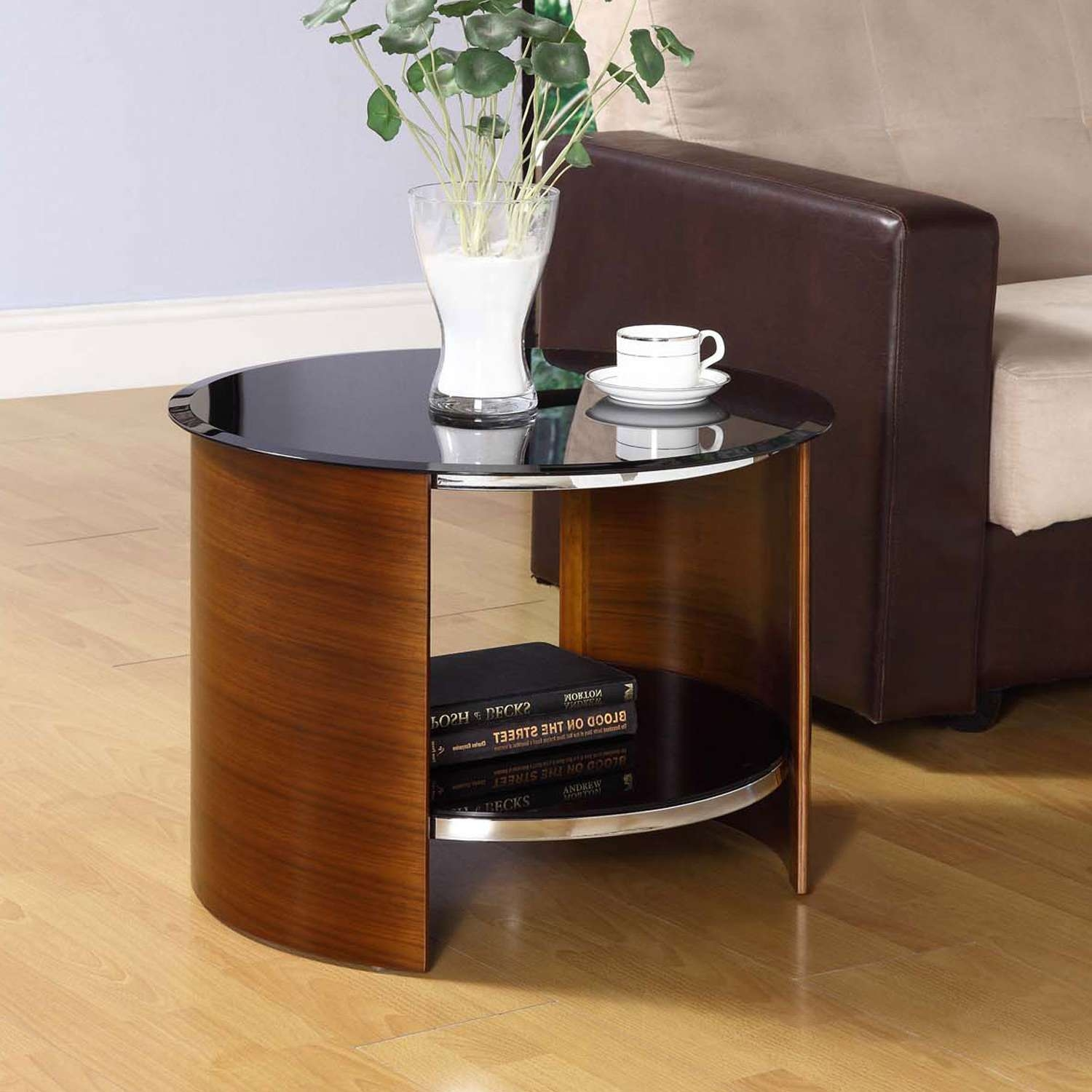 Jual Jf303 Curve Walnut Side Table For 2018 Curve Coffee Tables (View 6 of 20)