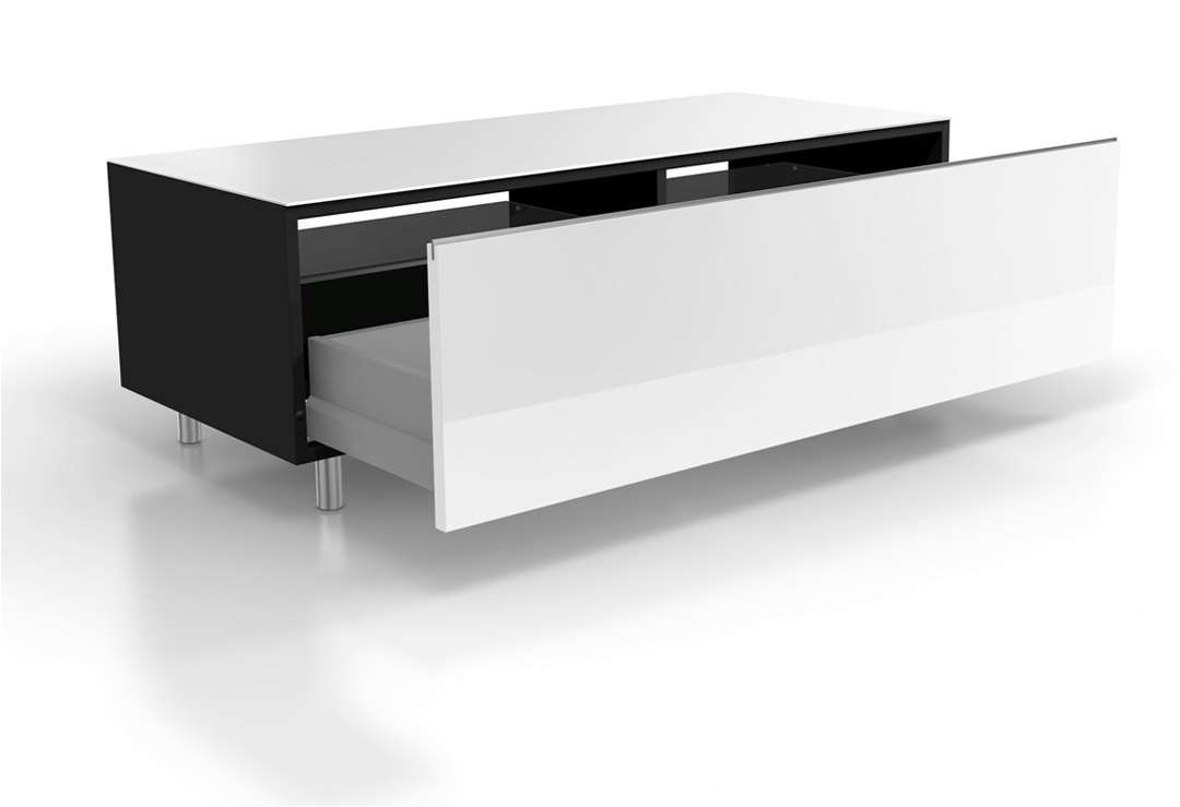 Just Racks Jrl1100 Sl Gloss White Tv Cabinet W/ Drawer – White Tv Regarding Gloss White Tv Cabinets (View 11 of 20)