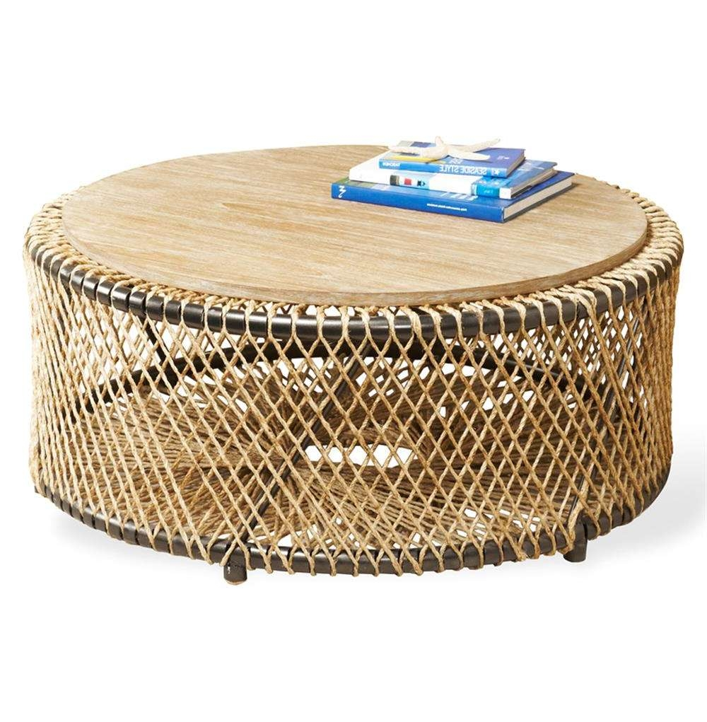 Kathy Kuo Home Regarding Preferred Round Woven Coffee Tables (Gallery 15 of 20)