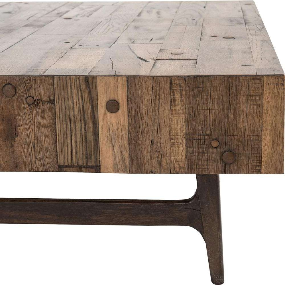 Kathy Kuo Home Throughout Latest Reclaimed Oak Coffee Tables (View 12 of 20)
