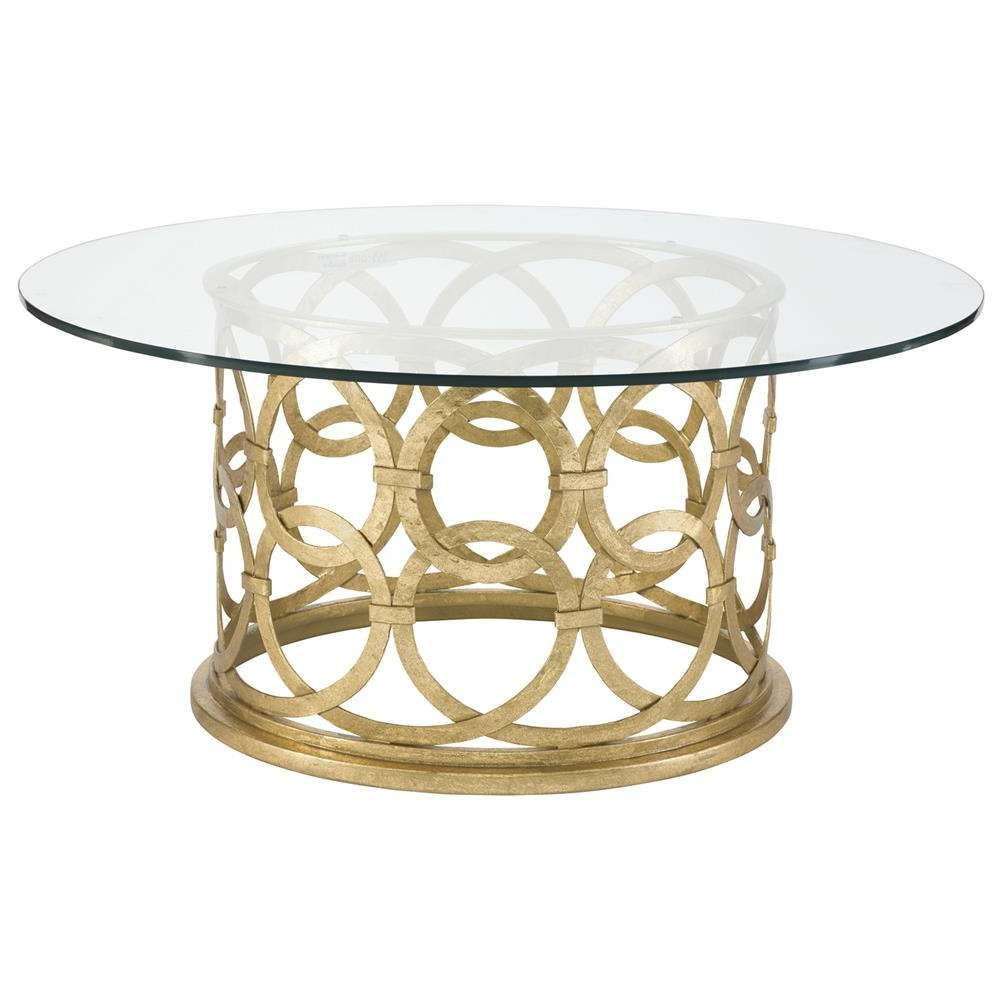 Kathy Within Well Liked Gold Round Coffee Table (Gallery 13 of 20)