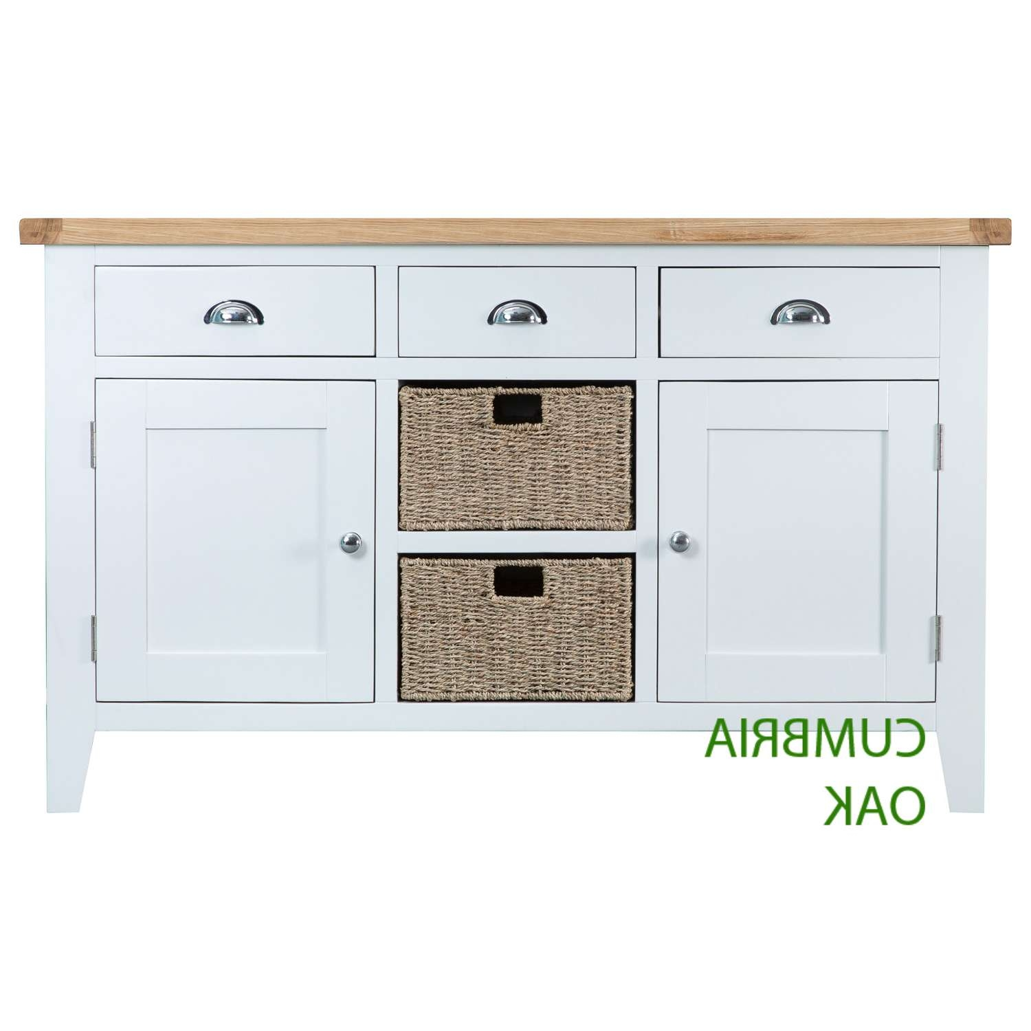 Kirkstone Oak Large Sideboard – Cumbria Oak For Off White Sideboards (View 7 of 20)