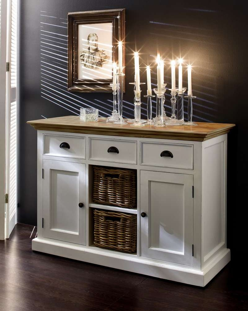 Kitchen Buffet Furniture White : Cozy Rustic Kitchen Buffet Throughout Small Sideboards Cabinets (View 13 of 20)