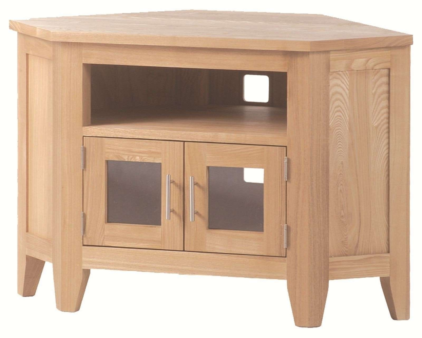 Kitchen : Picture Of White Wood Corner Tv Stand With Double Doors Intended For Small Corner Tv Cabinets (View 10 of 20)