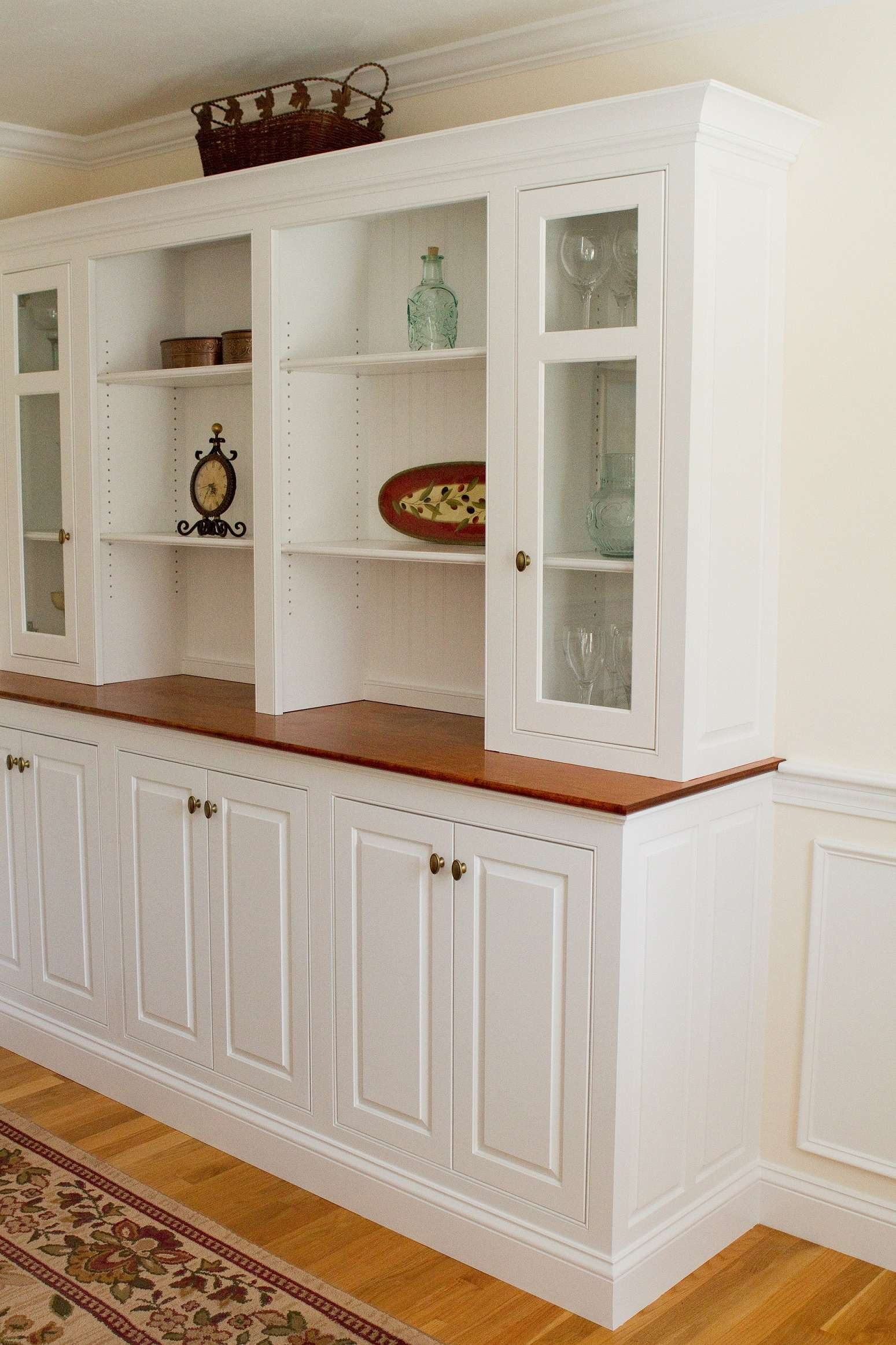 Kitchen Server Cabinet Antique White Buffet Server Long Thin With Regard To Long Thin Sideboards (View 11 of 20)